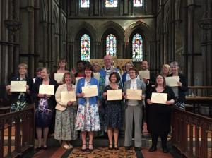 Newly Licensed Lay Ministers Rochester Cathedral May 2015
