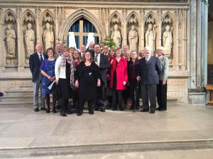 Abi and supporters at Lay Minister Licensing - Rochester Cathedral