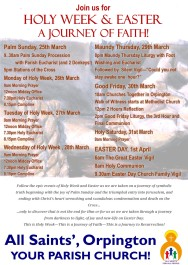 Holy Week Poster 18 5th - Dates