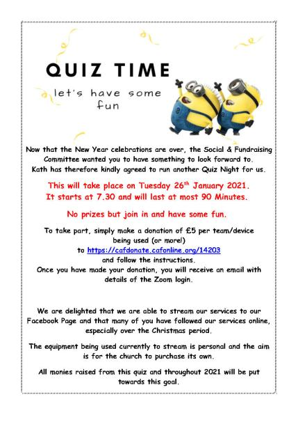 Quiz time at All Saints Poster